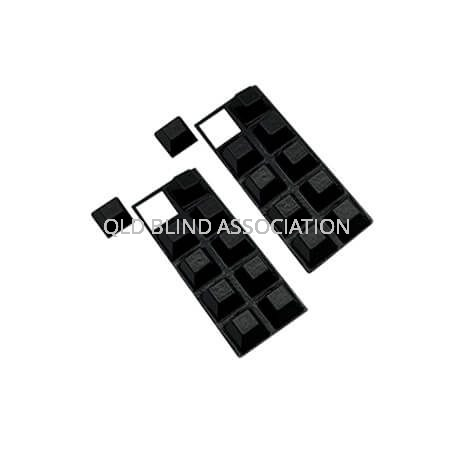 Bump Ons Large Black Square Pack of 20