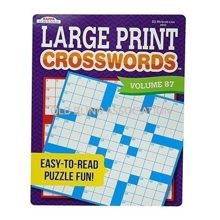 Large Print Crosswords Book Volume 87