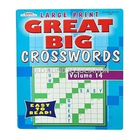 Large Print Crosswords Book Volume 14
