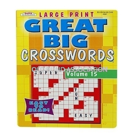 Large Print Crosswords Book Volume 15