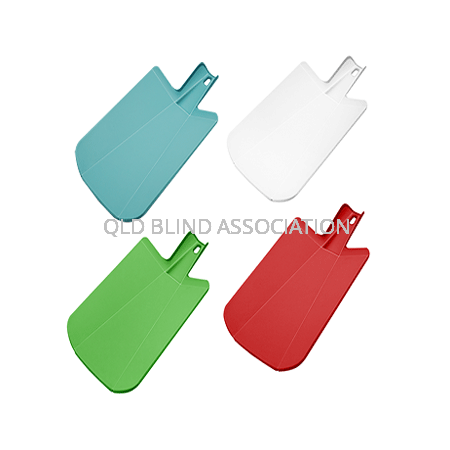Four colour variations of the Chop 2 Pot Chopping Board