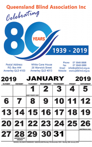 2019 large print calendars