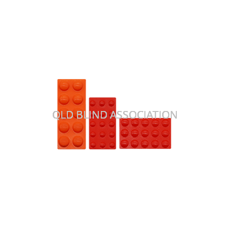 Bump Ons Mixed Sizes Orange/Red Pack Of 40