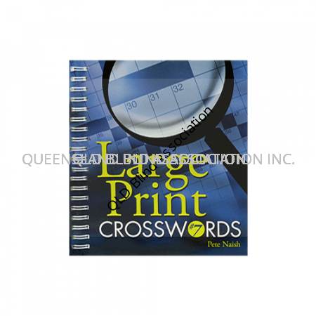 Large Print Crossword Book Number 7 with a dark blue cover