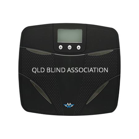 Taking BIA Body Fat Bathroom Scales in Black