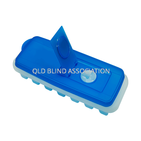Ice Cub Tray with a blue lid