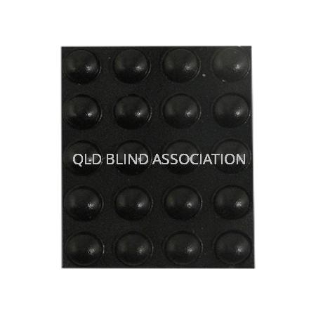 One Sheet of 20 Black Extra Large Circular Bump Ons Tactile Markings