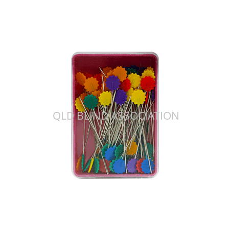 Marking Pins With Flower Heads 100 Pack