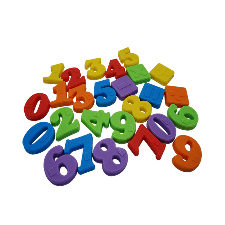 multicoloured numbers with braille