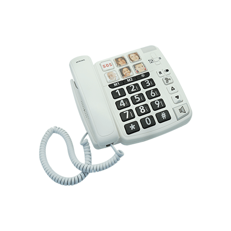 large print oricom phone with picture dialling